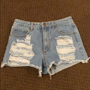 Forever 21 cutoff ripped denim shorts